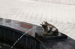 Frog statue - RAW format Stock Photos