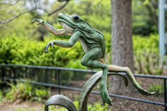 Frog statue Stock Photography