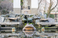 The Frog Statute at Tenryuji stock photos
