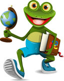 Frog student Stock Photo
