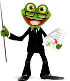 Frog in a suit Royalty Free Stock Photo