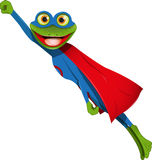 Frog superman Stock Image