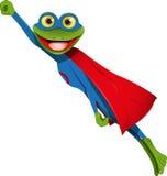 Frog superman Stock Image