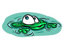 Frog swamp cartoon illustration Royalty Free Stock Photography