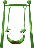 Frog swing vector Stock Images
