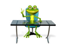Frog at the table Royalty Free Stock Images