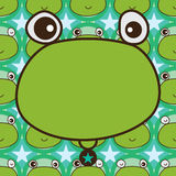 Frog template symmetry seamless pattern Royalty Free Stock Photos