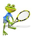 Frog tennis Stock Image