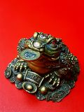 Money mascot. Frog with three legs - a ssymbol of wealth and luck Feng Shui Royalty Free Stock Photos