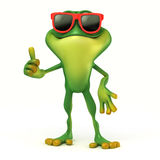 Frog thumb up Stock Photography