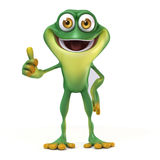 Frog thumb up Stock Image
