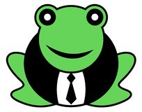 Frog with tie Royalty Free Stock Image