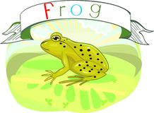 Frog with title Royalty Free Stock Photos