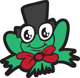 Frog with Top Hat Stock Images