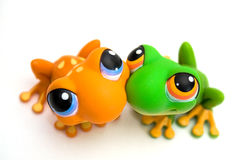 Frog toys Royalty Free Stock Photo