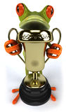Frog with a trophy Royalty Free Stock Image