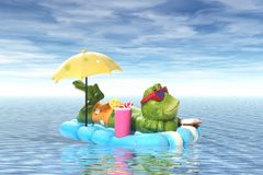Frog on Vacation Stock Photo