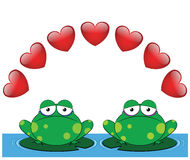 Frog valentine Royalty Free Stock Photo
