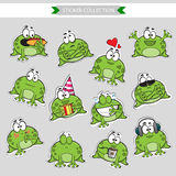 Frog Vector stickers Royalty Free Stock Photo