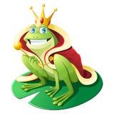 Frog Wearing Crown stock illustration