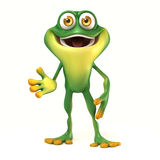 Frog welcome pose Royalty Free Stock Photo