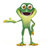 Frog welcome pose Stock Photography