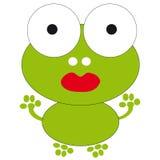 Frog on white background royalty free illustration