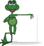 Frog with a white banner Stock Image