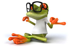 Frog with a white tshirt Royalty Free Stock Image