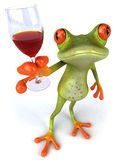Frog and wine Stock Image