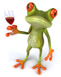 Frog and wine Stock Images