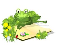 Frog With Book, Cdr Vector Royalty Free Stock Image