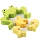 Frog wooden toy Royalty Free Stock Photography