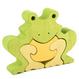 Frog wooden toy Stock Photos