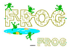 FROG word maze for kids Stock Image