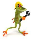 Frog worker Stock Photo