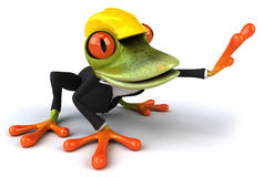 Frog worker Royalty Free Stock Images