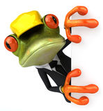 Frog worker Stock Photo
