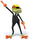 Frog worker Stock Images