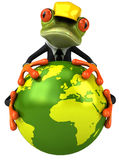 Frog worker Royalty Free Stock Photography