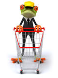 Frog worker Royalty Free Stock Photos
