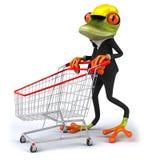 Frog worker Stock Image