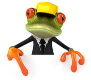 Frog worker Stock Photography