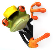 Frog worker Royalty Free Stock Photo