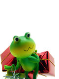 Froggy the gift deliverer Stock Photography