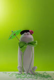 Froggy with umbrella Stock Images