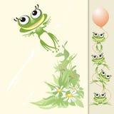 Froggyflug Stockfoto