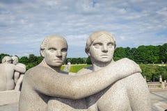 Frogner公园,奥斯陆,挪威 免版税库存照片