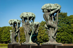 Frogner Park. Is a public park located in the borough of Frogner in Oslo, Norway.  contains, in its present centre, the world famous Vigeland Sculpture Stock Images