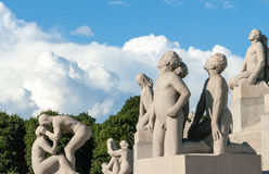 Frogner Park. Is a public park located in the borough of Frogner in Oslo, Norway.  contains, in its present centre, the world famous Vigeland Sculpture Stock Photos